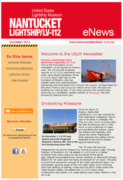 Newsletter, Nantucket Lightship/LV-112